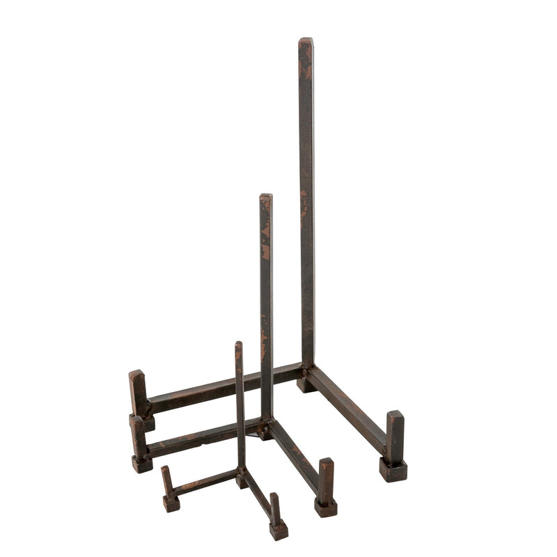 Iron Plate Stand  - Medium -  Decorative Accessories - Indaba Trading - Putti Fine Furnishings Toronto Canada - 1