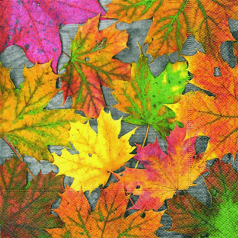 Autumn Leaves Paper Napkins - Lunch - Le Petite Putti Canada