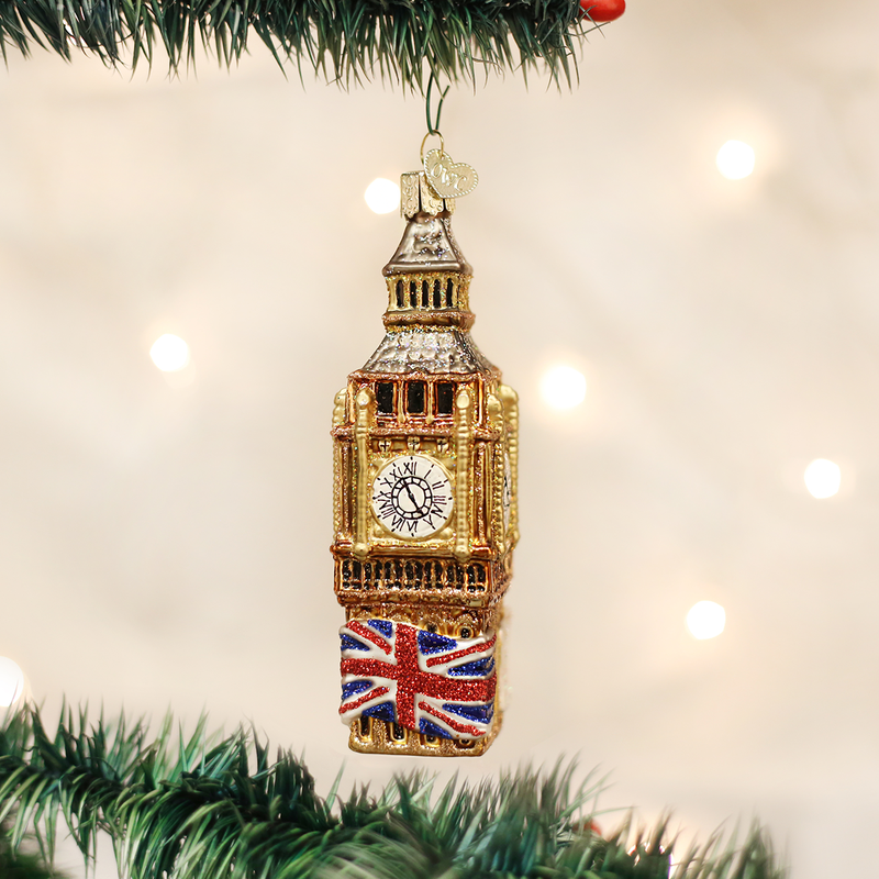Old World Christmas Big Ben Glass Christmas Ornament