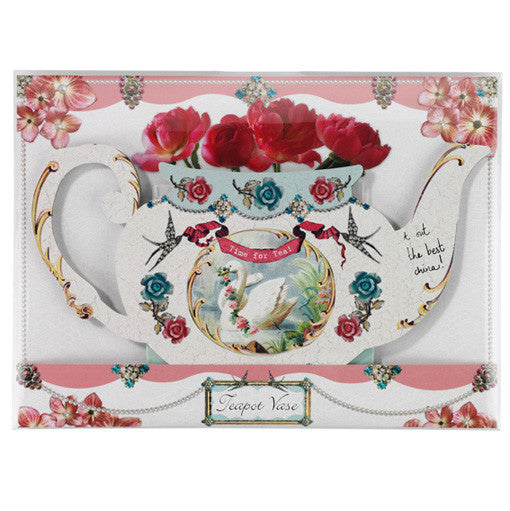 Pastries and Pearls Teapot Vase-Party Supplies-TT-Talking Tables-Putti Fine Furnishings