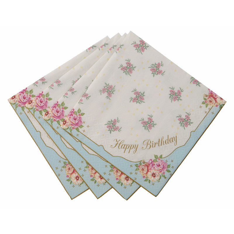 Happy Birthday Napkin -  Paper Napkins - Talking Tables - Putti Fine Furnishings Toronto Canada - 3