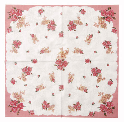 Truly Scrumptious Pink Foral Dinner Napkin -  Party Supplies - Talking Tables - Putti Fine Furnishings Toronto Canada - 3