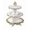 Party Porcelain Gold Three Level Cake Stand, TT-Talking Tables, Putti Fine Furnishings