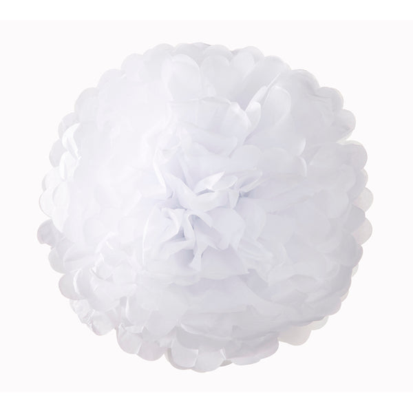 Decedant Decs White Pom Poms-Decorations-TT-Talking Tables-Putti Fine Furnishings