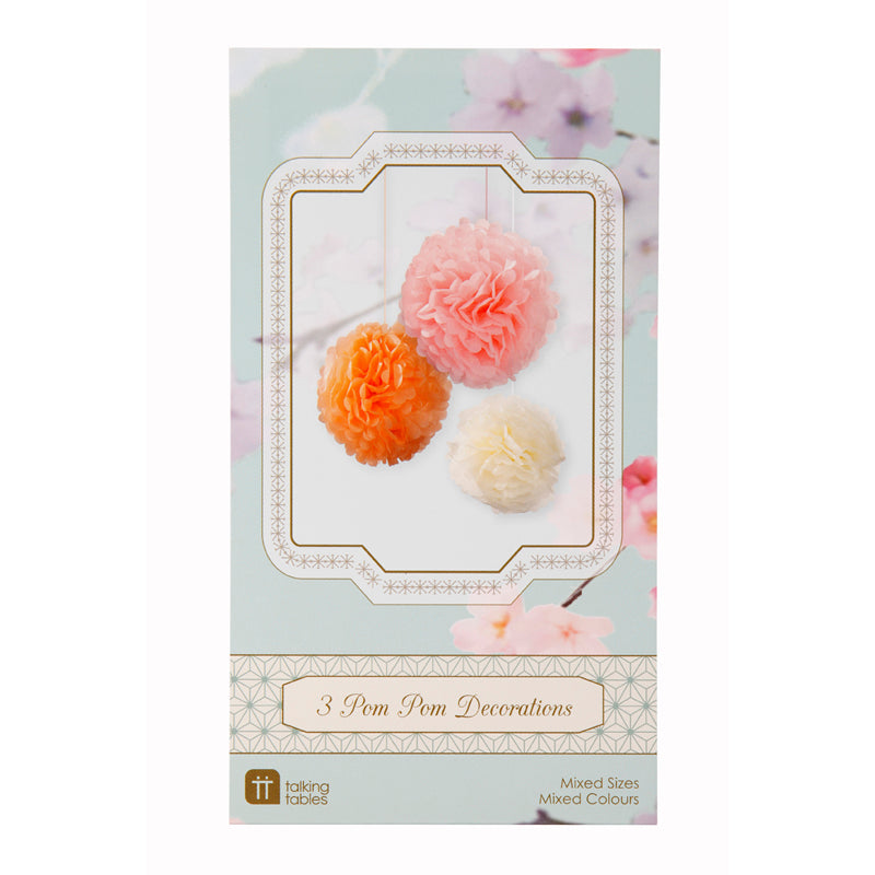 Pastel Mix Pom Poms -  Decorations - Talking Tables - Putti Fine Furnishings Toronto Canada - 4