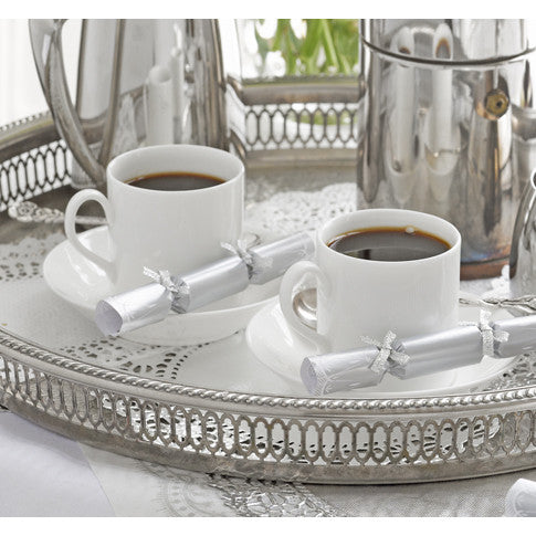 Party Porcelain Silver Saucer Crackers, TT-Talking Tables, Putti Fine Furnishings