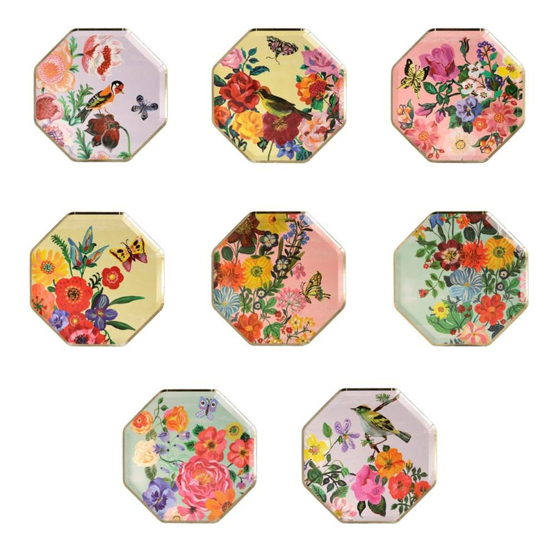 Meri Meri Nathalie Lete Flora Paper Plates Small | Putti Party Supplies