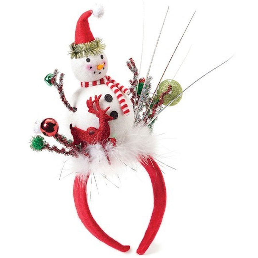 Snowman with Reindeer Headband Fun Holiday Party Attire