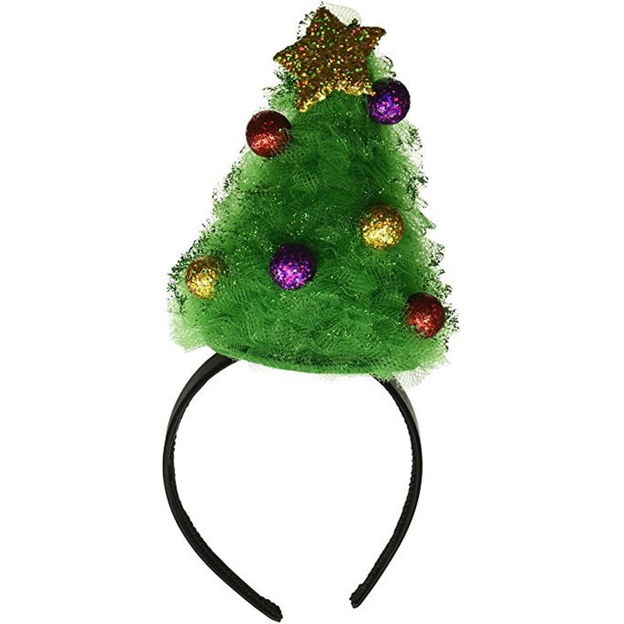 Christmas Tree Tulle Headband Fun Holiday Party Attire