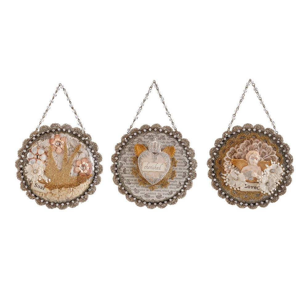 A Gilded Life Embellish Dome Ornament | Putti Christmas