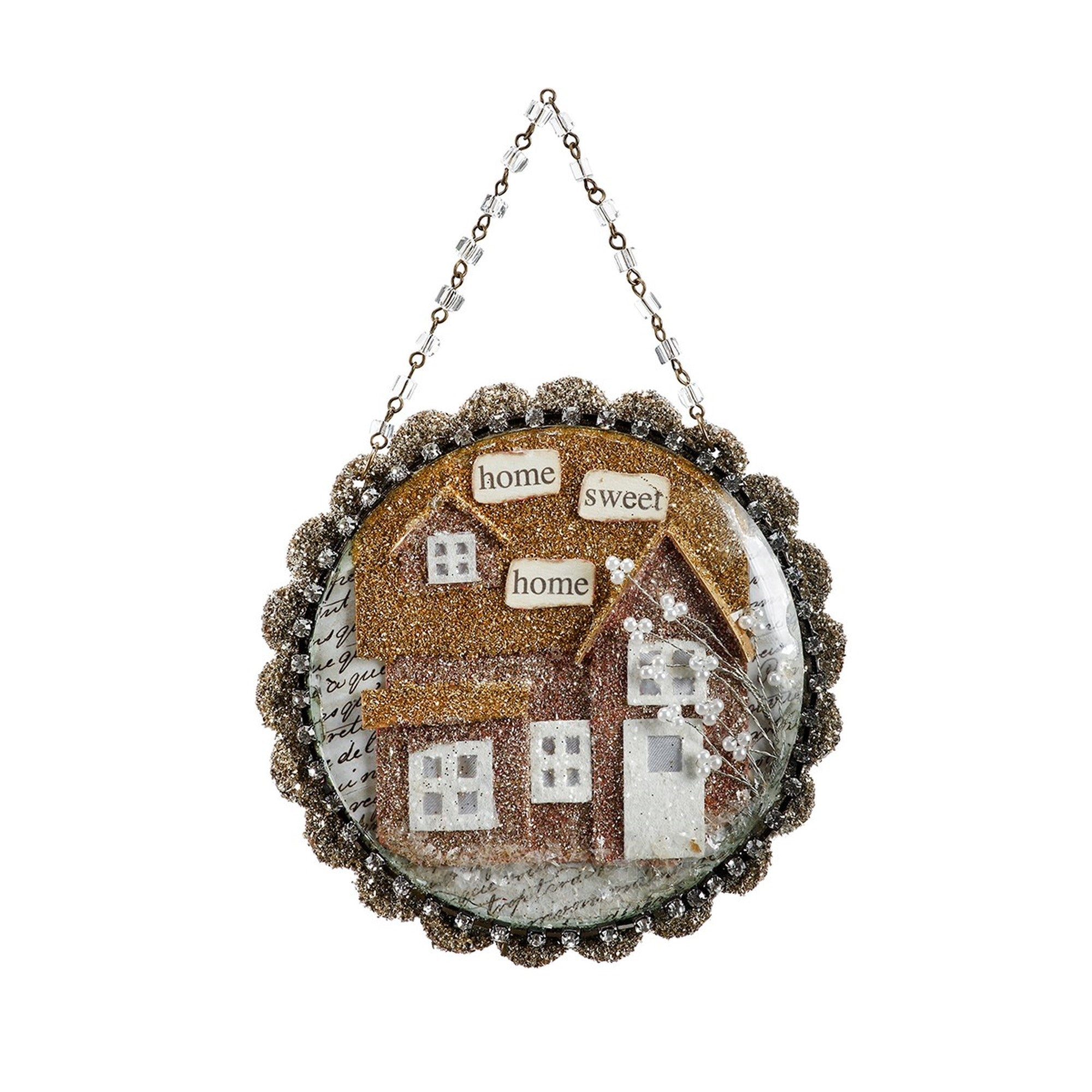 A Gilded Life Home Sweet Home Dome Scene Ornament  |  Putti Christmas Canada