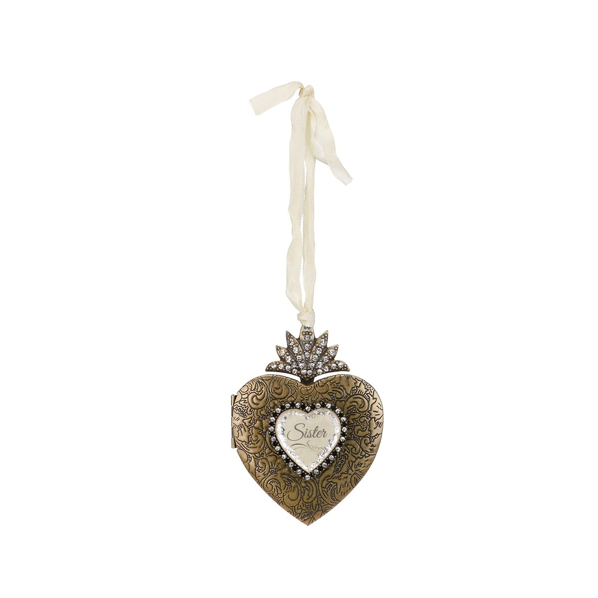A Gilded Life Sister Heart Locket