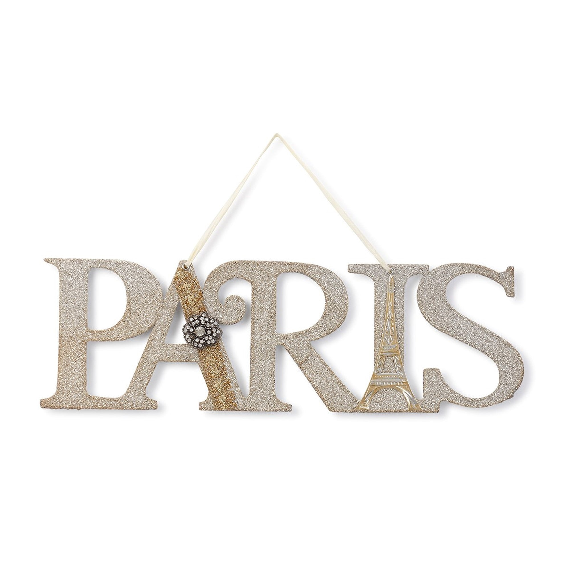 Demdaco A Gilded Life Embellished Paris Sign | Putti Fine Furnishings