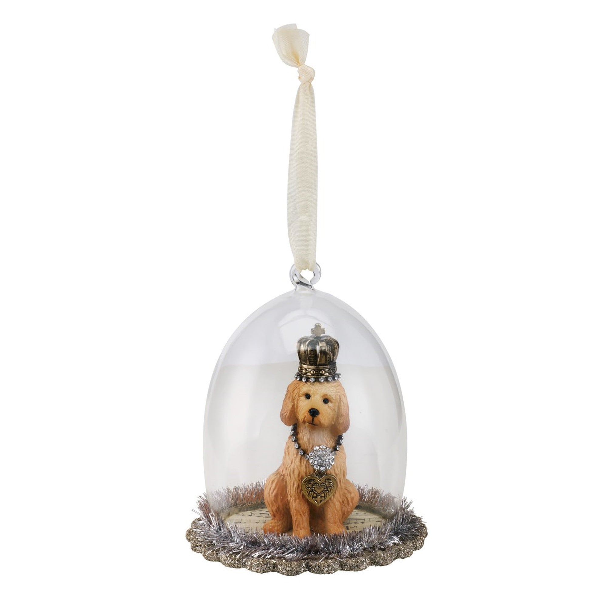 Golden Doodle Cloche Ornament, DO-Demdaco, Putti Fine Furnishings