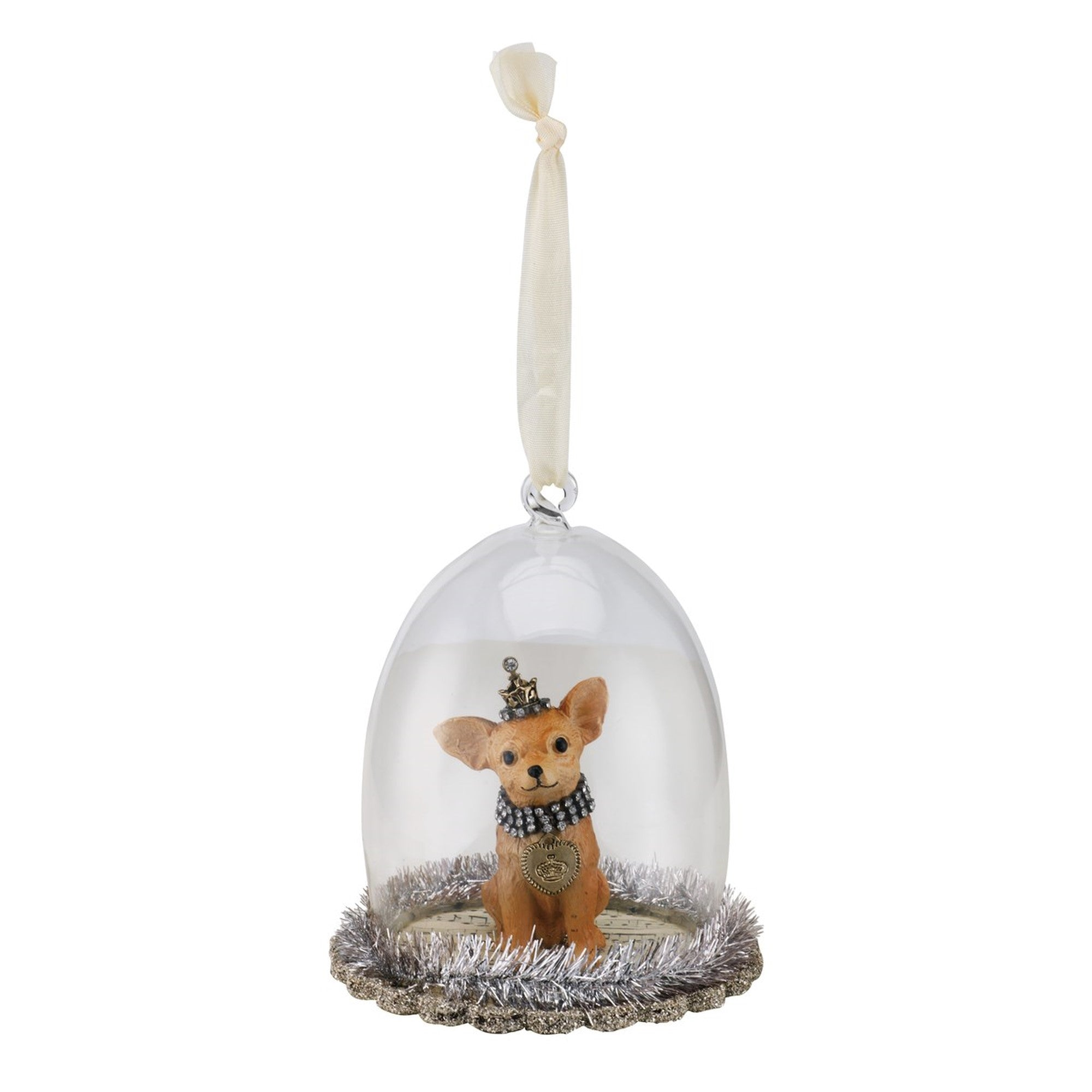Chihuahua Cloche Dog Christmas Ornament, DO-Demdaco, Putti Fine Furnishings