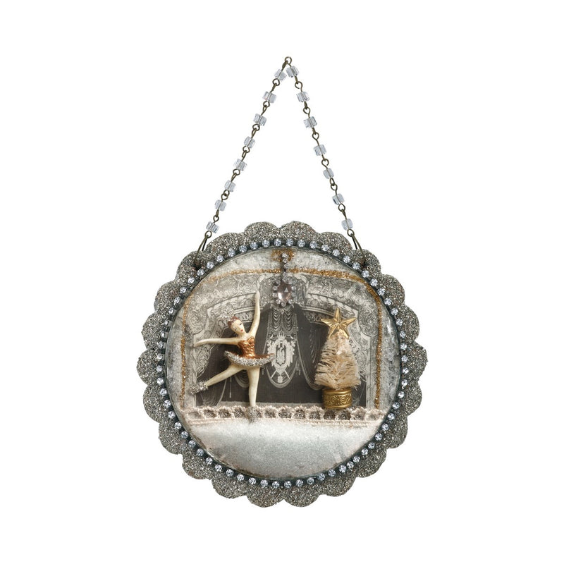A Gilded Life Nutcracker Ballet Dome Scene Ornament