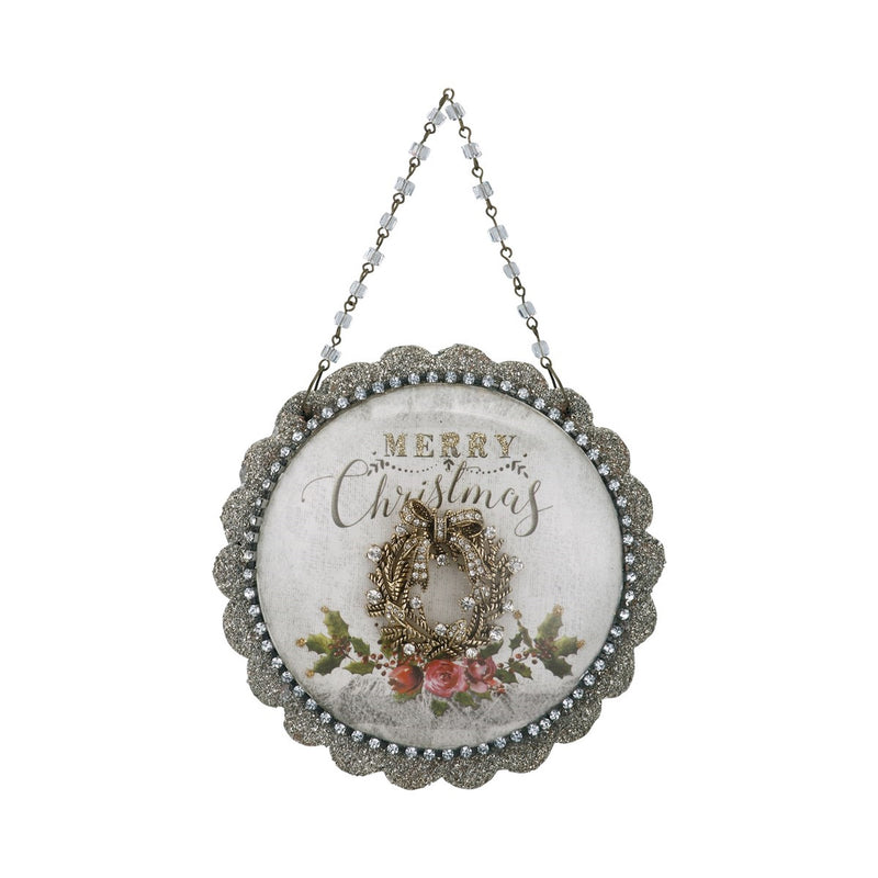 A Gilded Life Merry Christmas Dome Scene Ornament  |  Putti Christmas Canada