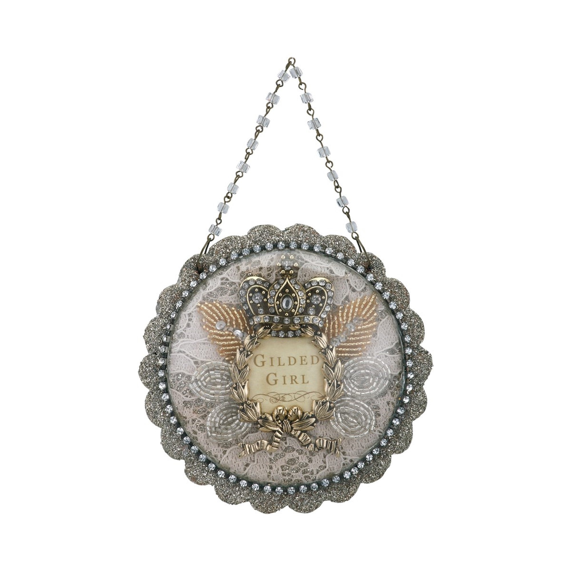 A Gilded Life Gilded Girl Dome Scene Ornament  |  Putti Christmas Canada