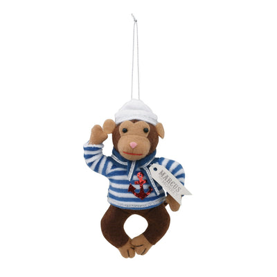 "Fanci Follies ""Marcus the Monkey"" Sailor Ornament  