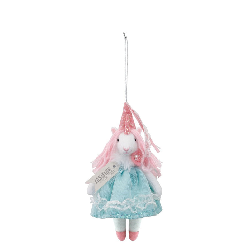 "Fanci Follies ""Yasmine the Unicorn""  Princess Ornament 