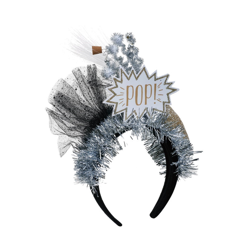 """POP"" Champagne Lit Headband Fun Holiday Party Attire 