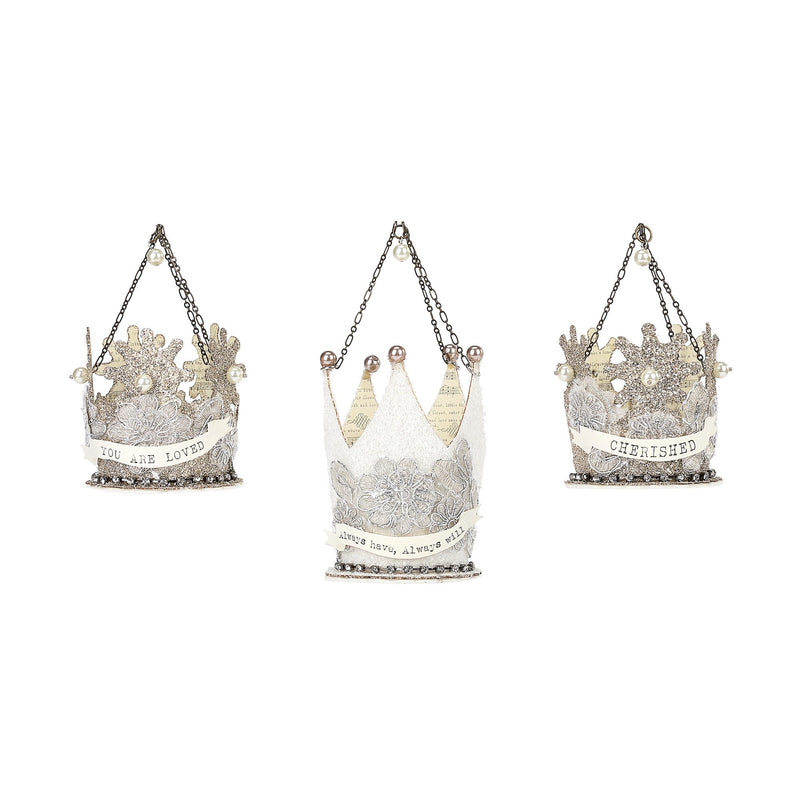 A Gilded Life Crown Message Ornaments