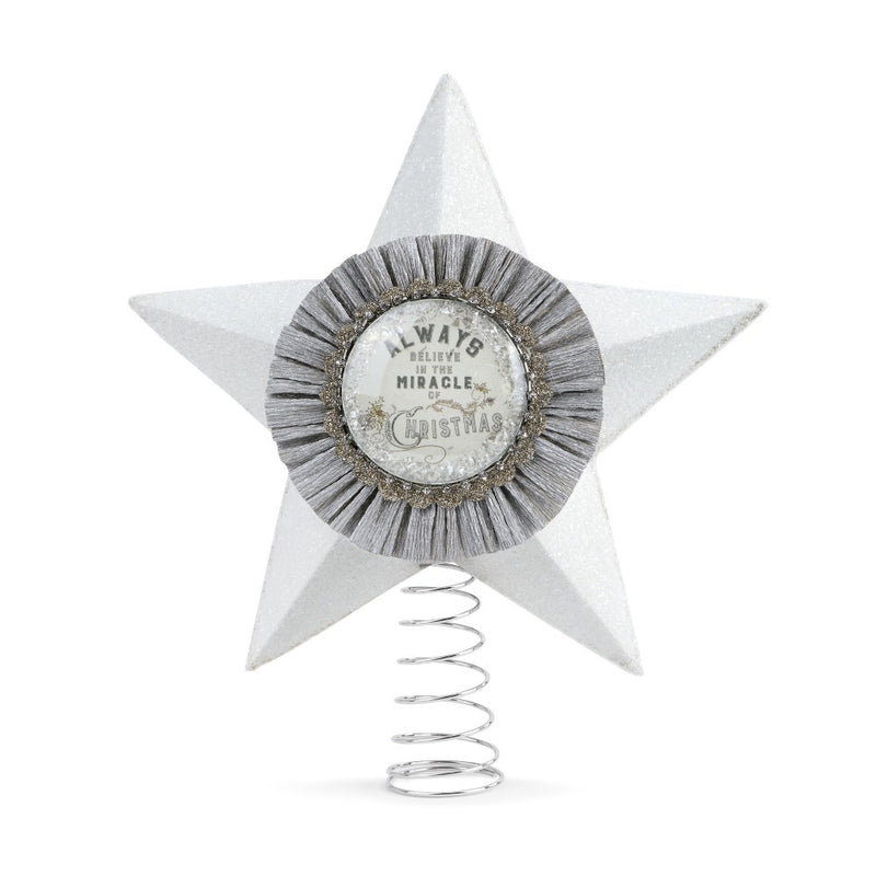 Demdaco Keepsake Star Christmas Tree Topper  | Putti Christmas