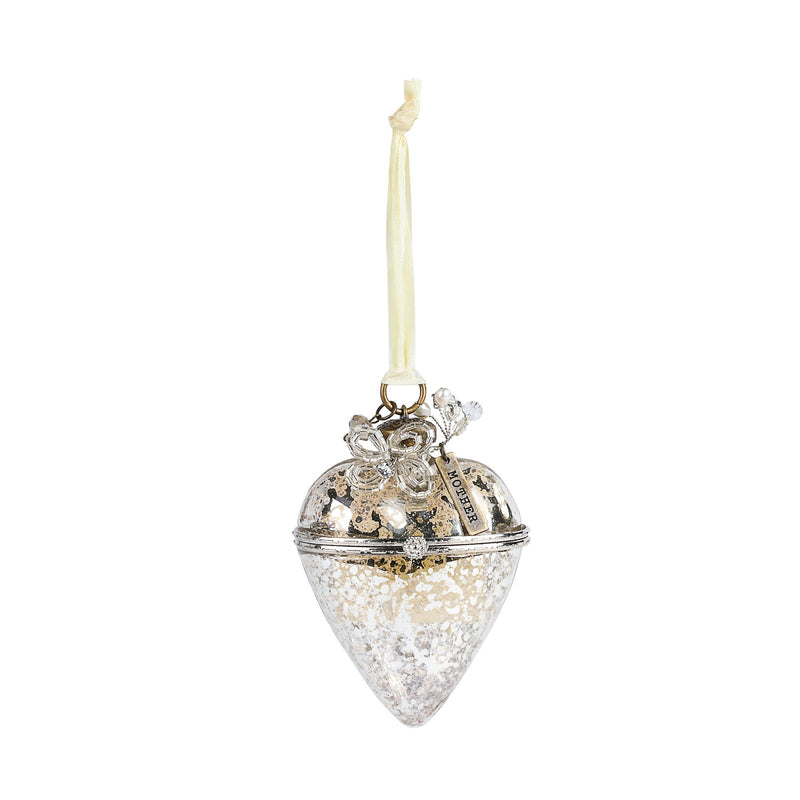 A Gilded Life Hinged Glass Heart Ornament | Putti Celebrations