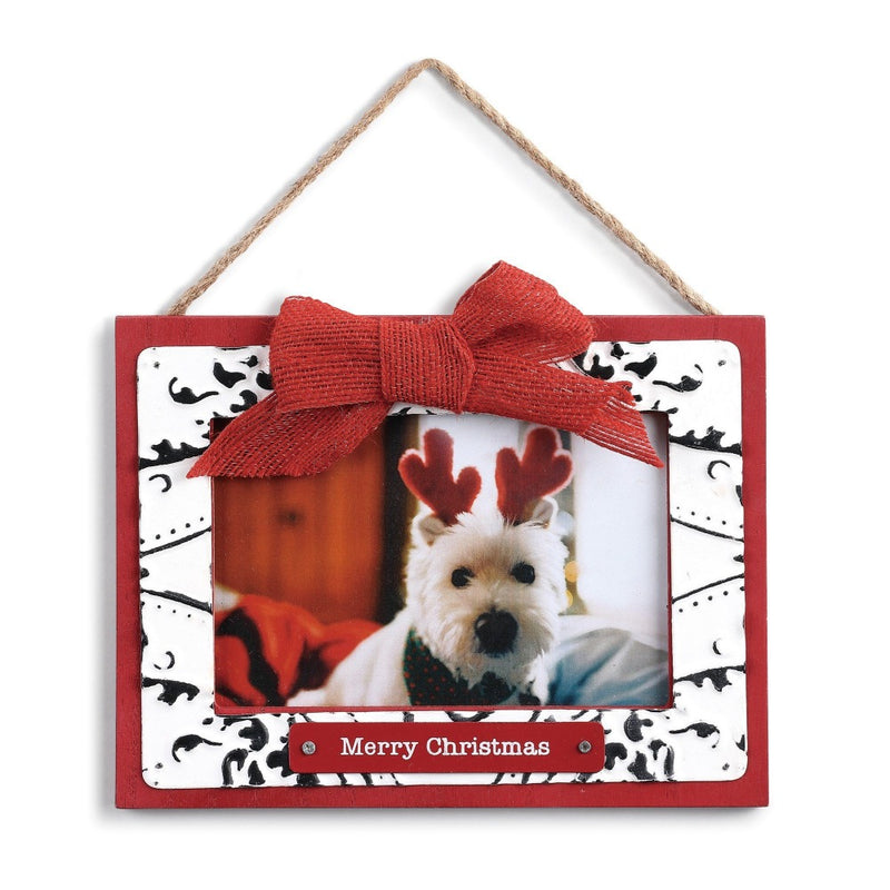 """Merry Christmas"" Ceiling Tin Frame Ornament"
