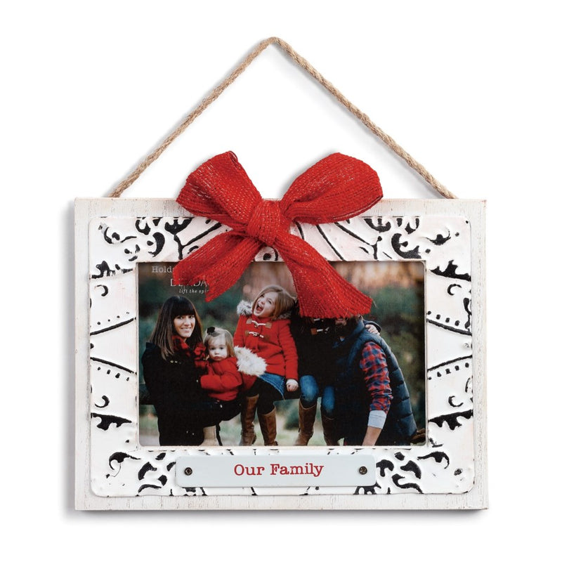 """Our Family"" Ceiling Tin Frame Ornament  
