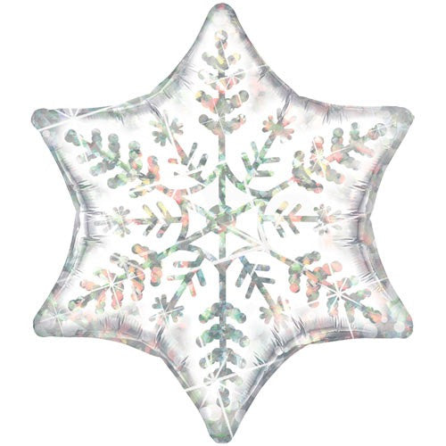 Holographic Snowflake Balloon, SE-Surprize Enterprize, Putti Fine Furnishings