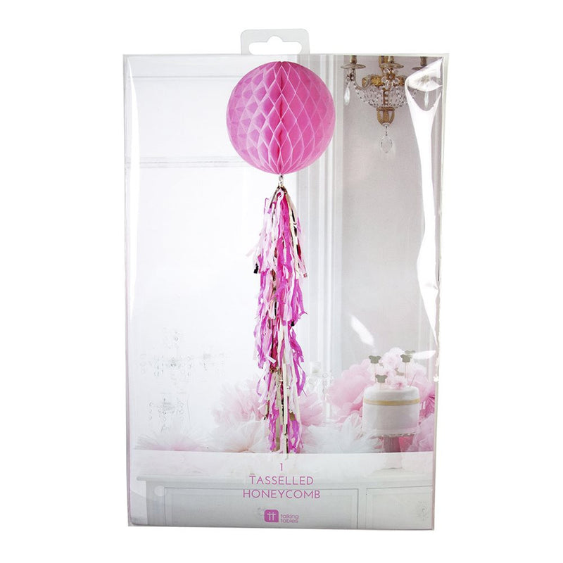 Decadent Decs Honeycomb Tasseled Decoration - Pink
