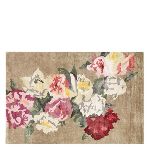 "Designers Guild Octavia Painterly Floral Rug-Carpet-DG-Designers Guild-Standard 5'3"" x 8'6"" ( 160cm x 260cm)-Putti Fine Furnishings"