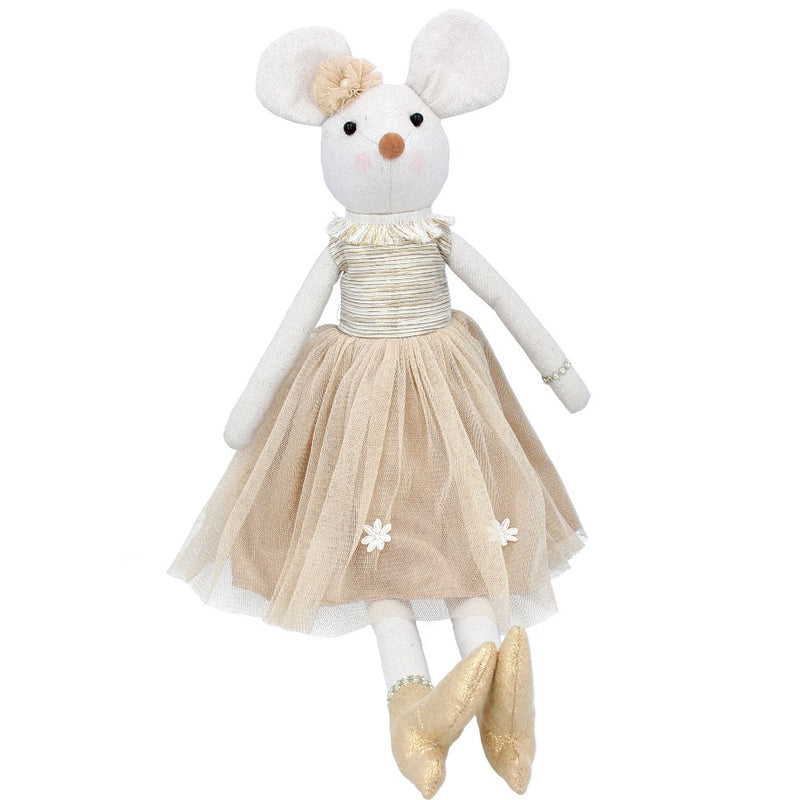 Mouse Plush Doll in a Gold Skirt