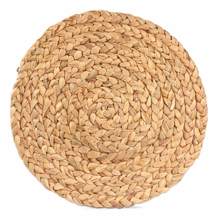 Braided Water Hyacinth Round Placemat