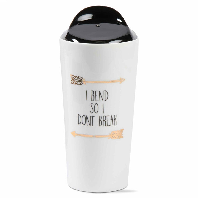 """I Bend So I Don't Break"" Travel Mug"