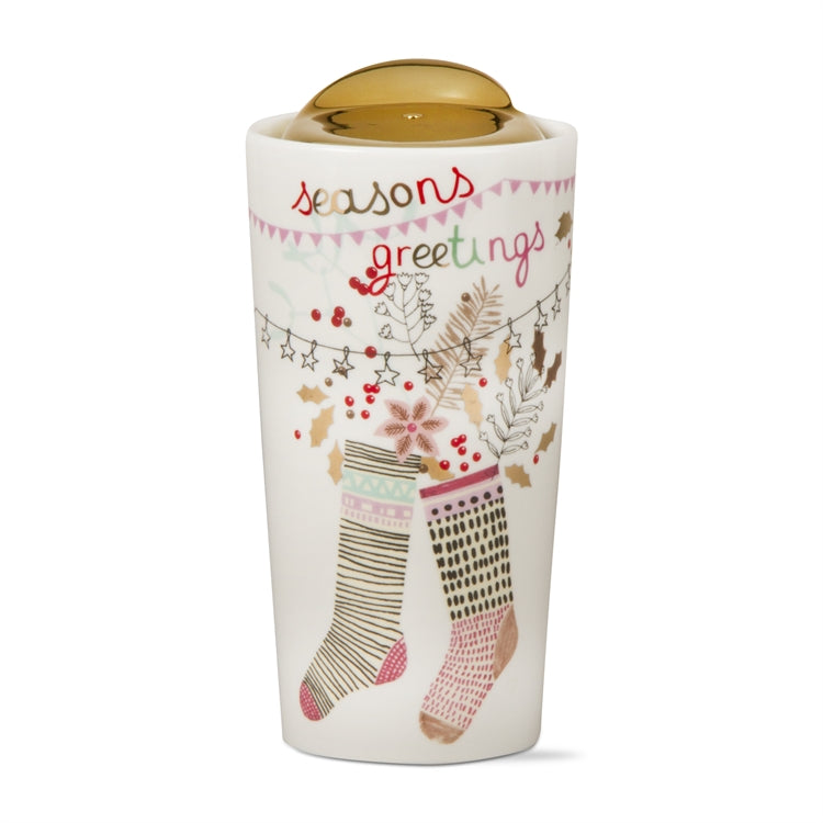 """Seasons Greetings"" Travel Mug"