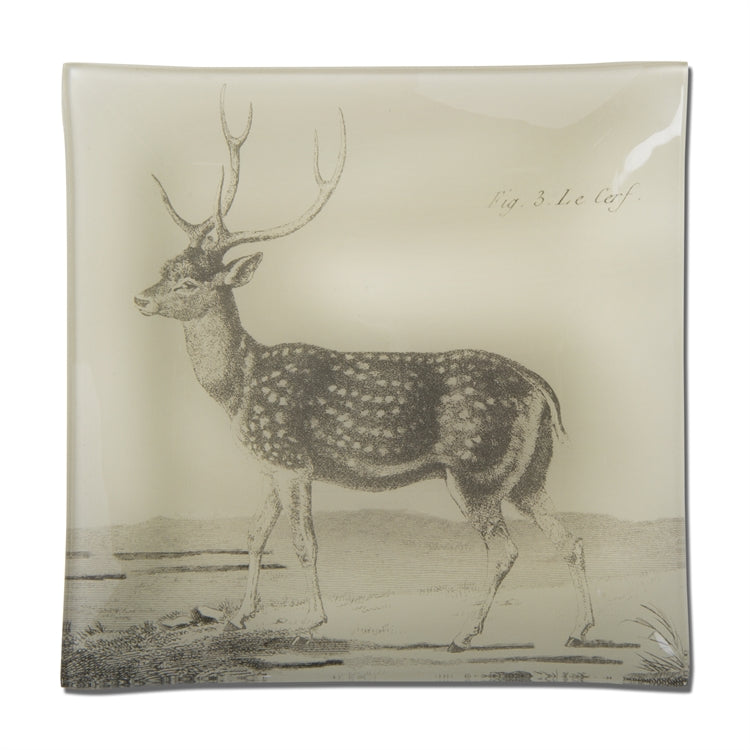 Woodland Deer Glass Plate