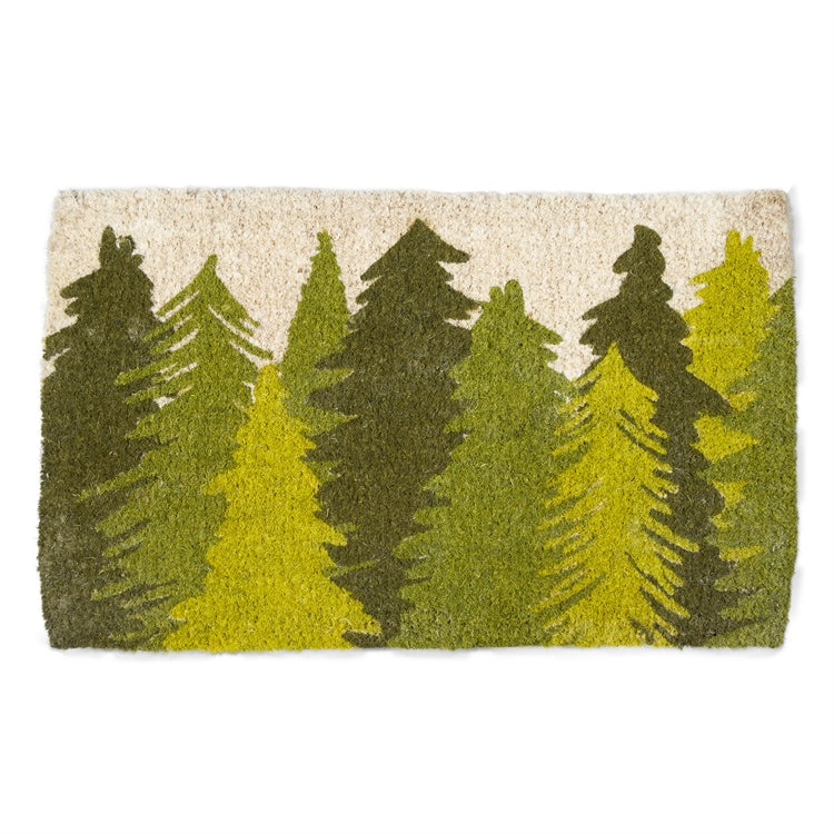 Woodland Trees Coir Doormat