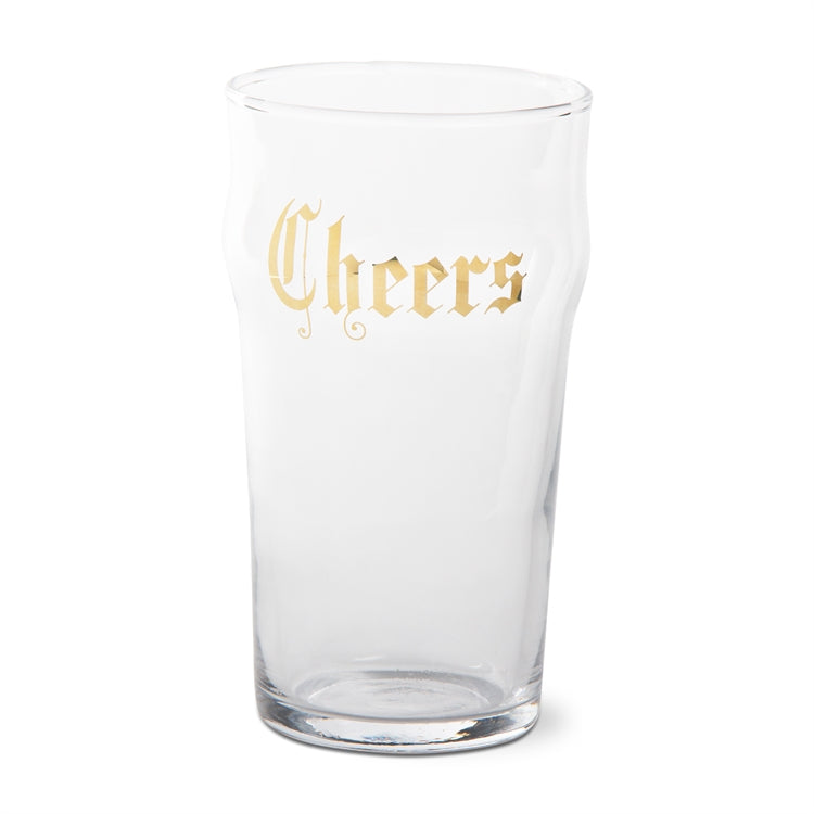 "Gold ""Cheers"" Pint Glass"
