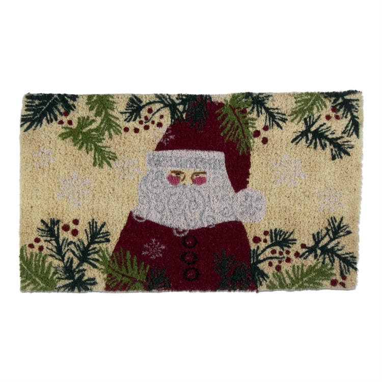 Holly Jolly Santa Coir Doormat