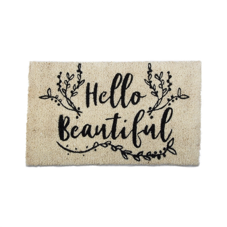 """Hell Beautiful"" Coir Door Mat"