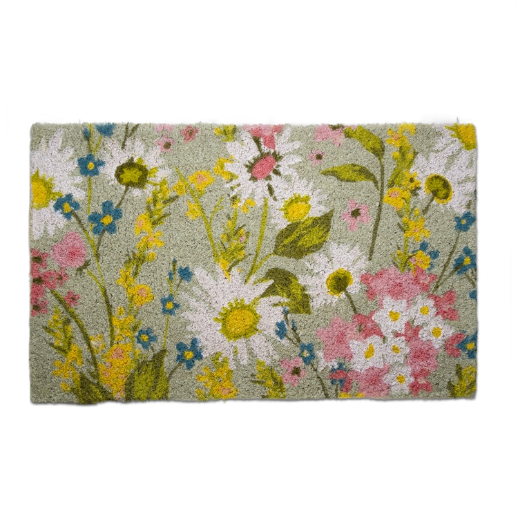 Daisy Floral Coir Doormat | Putti Fine Furnishings Canada