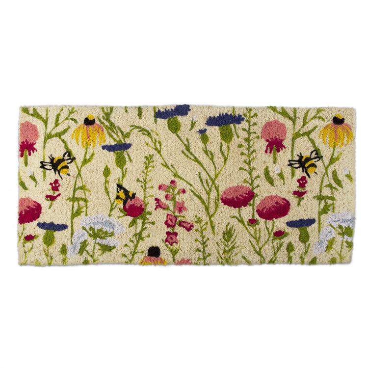 Bee Wildflower Estate Coir Doormat