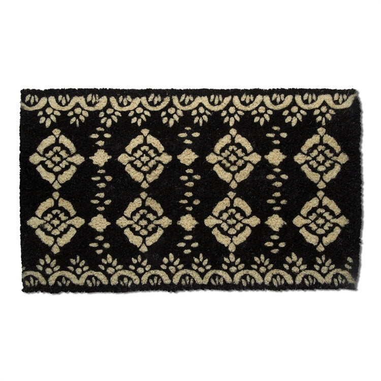Oasis Black and Natural Coir Doormat