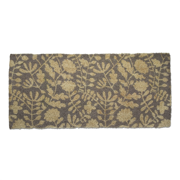 Grey Blossom Estate Coir Doormat