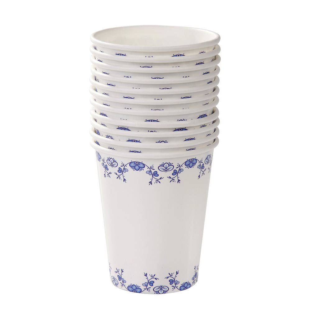 Party Porcelain Blue Paper Cups, TT-Talking Tables, Putti Fine Furnishings