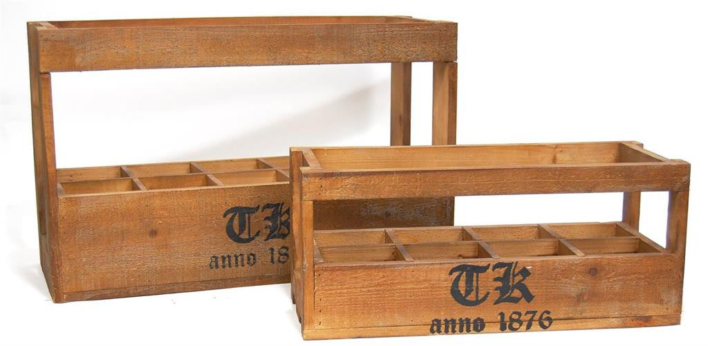 Set of Two Reproduction Crates-Baskets-Bacon Basket-Putti Fine Furnishings