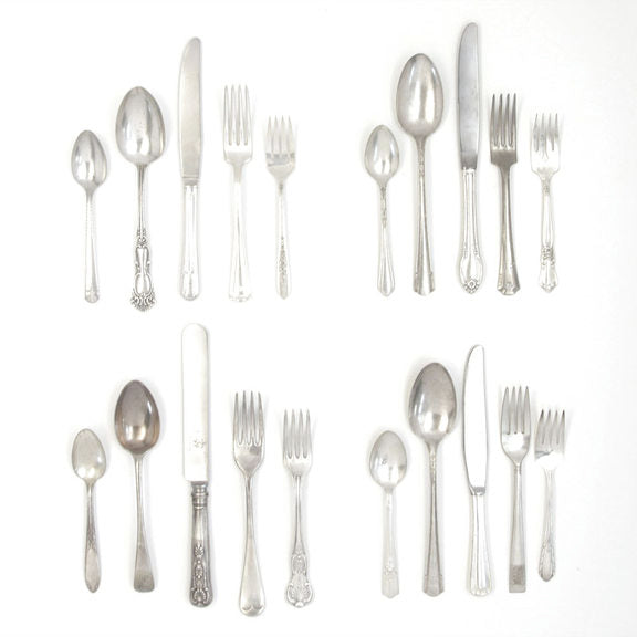 Vintage Silver Plate 5pc Place setting -  Flatware - Antique - Putti Fine Furnishings Toronto Canada - 5