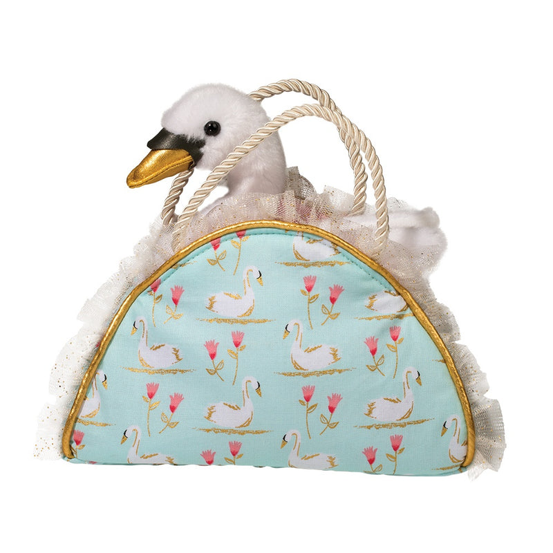 Douglas Swimming Swans Sak with Swan | Le Petite Putti Canada